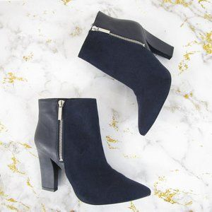 Nine West Black Blushing Ankle Boots Booties 8